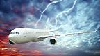 Avion en tormenta
