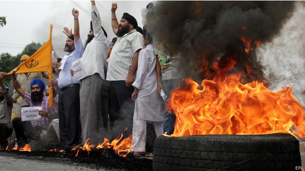 حظر تجول في مدينة هندية عقب اشتباكات بين المسلمين والسيخ