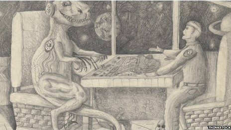Динозавр и человек