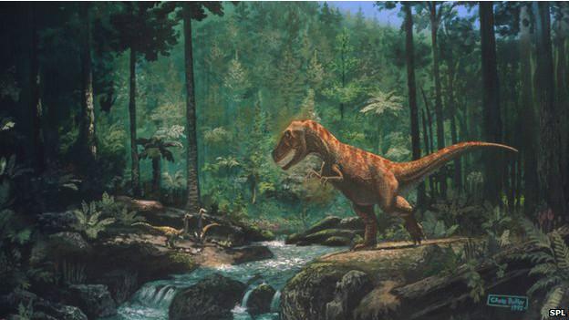 白垩纪恐龙生态示意图