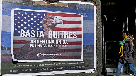 Campaña anti fondos buitre en Argentina