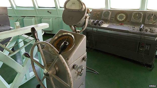 Puente de mando del NS Savannah