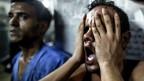 Hombre en Gaza se lamenta