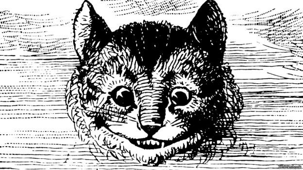 Ilustración del Gato de Cheshire