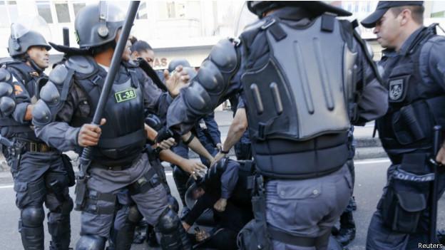 Polícia na final da Copa do Mundo no Rio