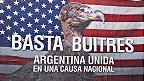 Banderas argentina y Estados Unidos