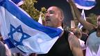 Israelí en manifestación a favor de la guerra en Gaza