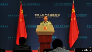 """在回应对周永康案时,中国国防部新闻发言人耿雁生说,中国军方对查出周永康表示""""坚决拥护。"""""""