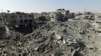 O bairro de Shejaia, no leste da Cidade de Gaza foi praticamente destruído pelos ataques