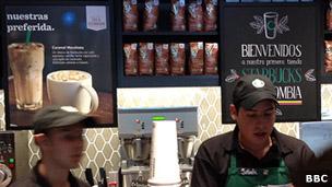 Tienda de Starbucks en Colombia