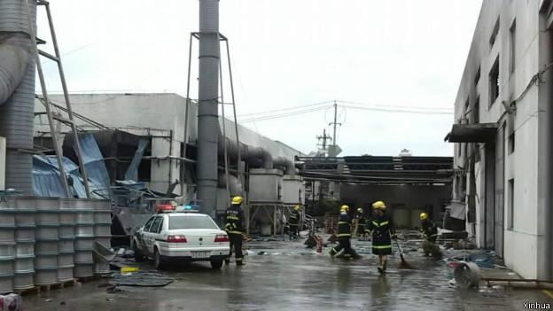 昆山爆炸事故已致65人死亡,疑因粉塵爆炸引發(02/08/2014)