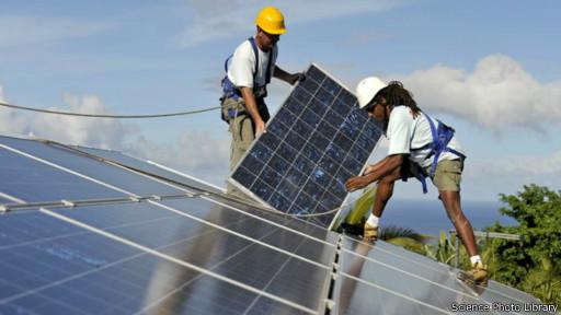 تركيب الألواح الشمسية