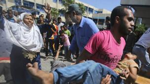 Escola é atingida em Rafah (Reuters)