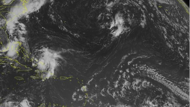 Imagen satelital de la tormenta