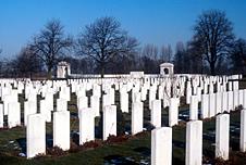WW1 military cemetery in Belgium