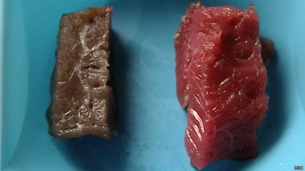 Carne sin y con antioxidantes