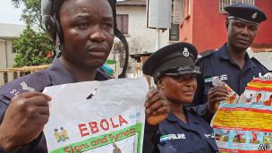 Policías en Sierra Leona