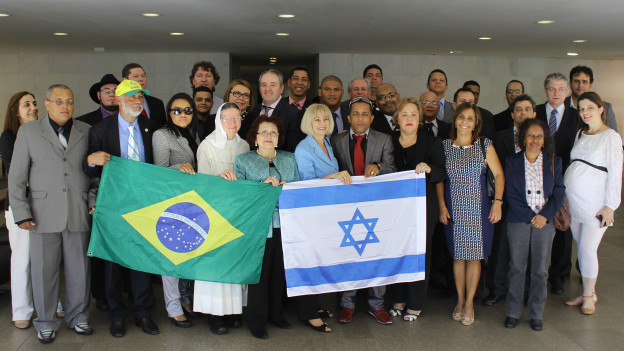 Ato de evangélicos no Itamaraty (Comunidade Brasil-Israel)