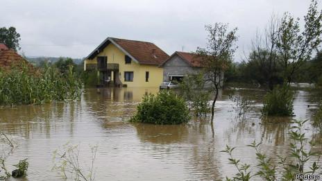 Inundaciones en Bosnia
