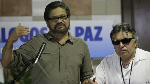 Delegados de las FARC a las conversaciones de paz
