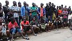 Liberianos varados en camino a Monrovia