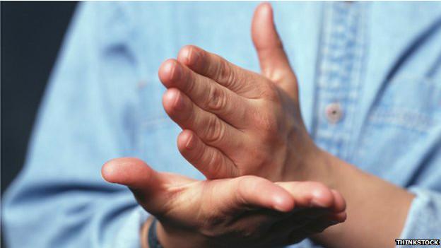 Lenguaje de señas.