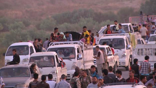 iraquíes hacia Erbil