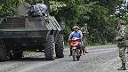 Soldados colombianos cerca a la frontera con Ecuador