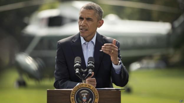 Barack Obama fala sobre a ação no Iraque em 9 de agosto | Foto: AP