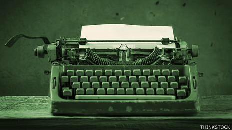 Cámara de escribir mecánica.