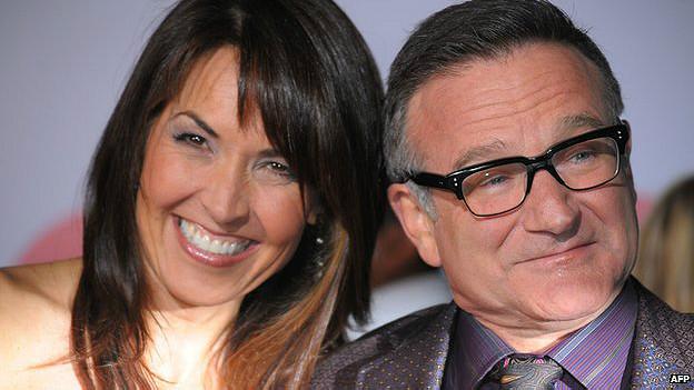 Robin Williams y su esposa Susan Schneider