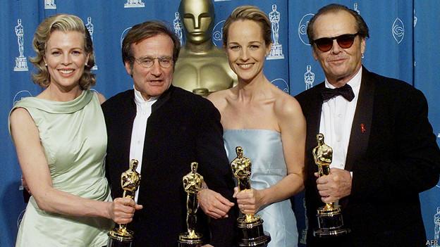Kim Basinger, Robin Williams, Helen Hunt y Jack Nicholson