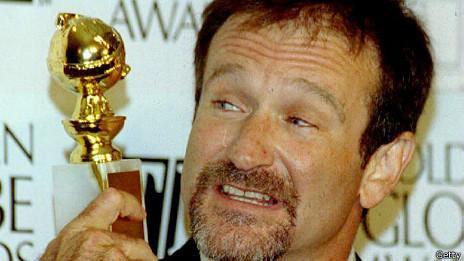 Robin Williams con el Globo de Oro