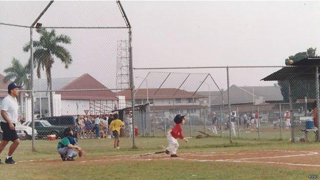 Liga de béisbol para niños.