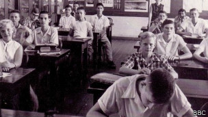 Estudiantes de la escuela secundaria Cristobal.