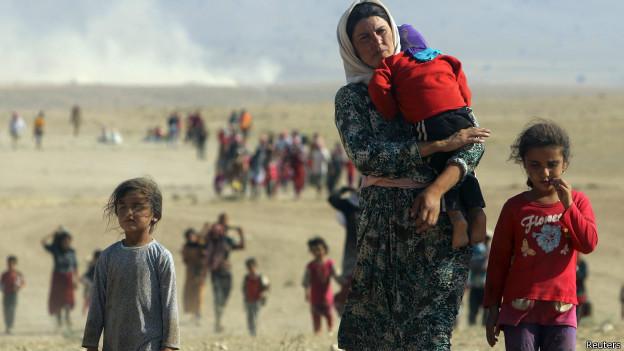 Refugiados da minoria yazidi no Iraque. Credito: Reuters