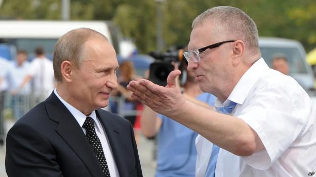 Президент России Владимир Путин и вице-спикер Думы Владимир Жириновский