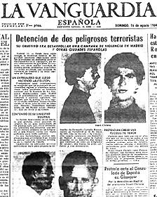 Portada de los diarios del a época mostrando el arresto