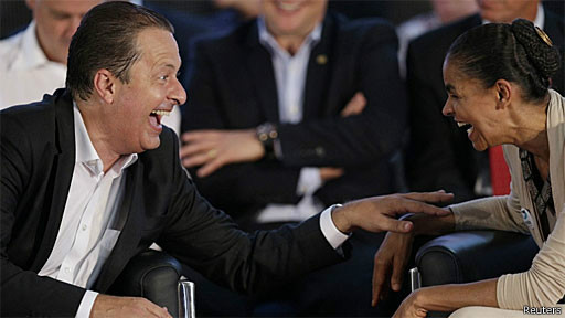 Campos e Marina (Reuters)