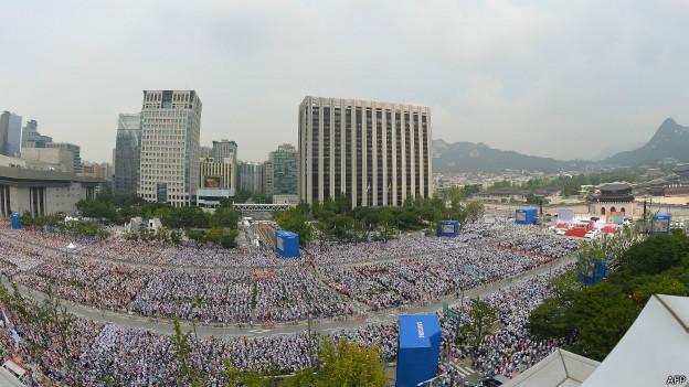 البابا فرنسيس يطوب 124 في كوريا الجنوبية بحضور مئات الالاف