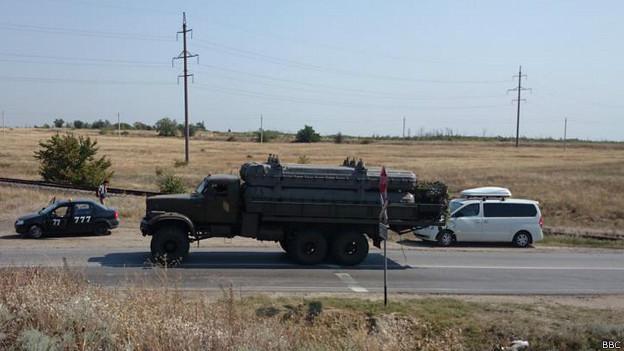 Российский военный грузовик