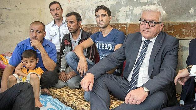 Frank-Walter Steinmeier y yazidíes