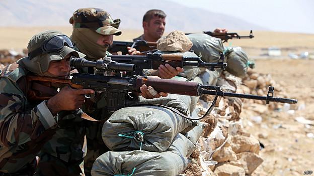 Combatientes Peshmerga kurdos