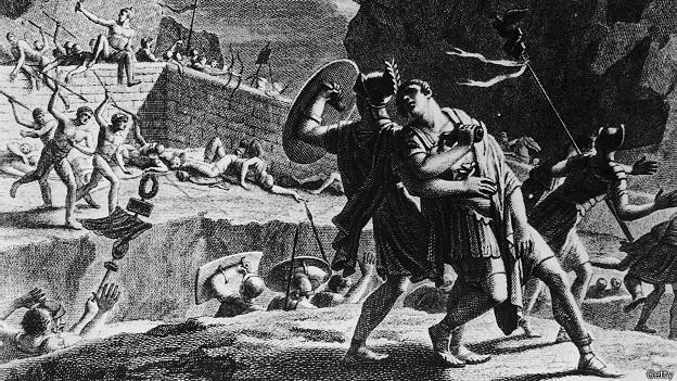 Римский генерал кончает с собой, проиграв битву германцам