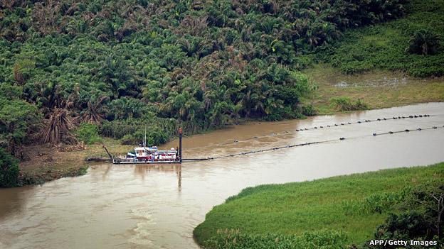 Río San Juan, en la frontera entre Nicaragua y Costa Rica.
