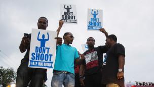 Manifestación en Ferguson