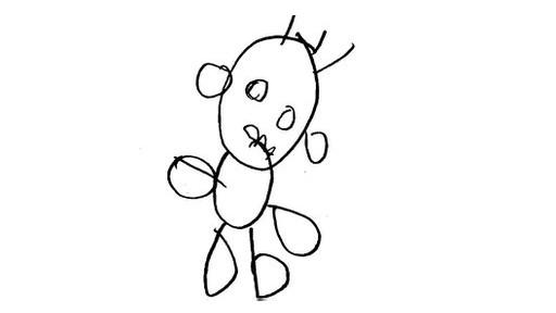 幼儿手绘人物图案