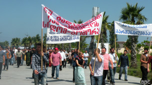 Protest action against Kazantip in Georgia