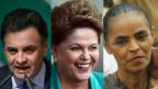 Aécio Neves, Dilma Rousseff e Marina Silva | Crédito: Agências (AP, AFP e Reuters)