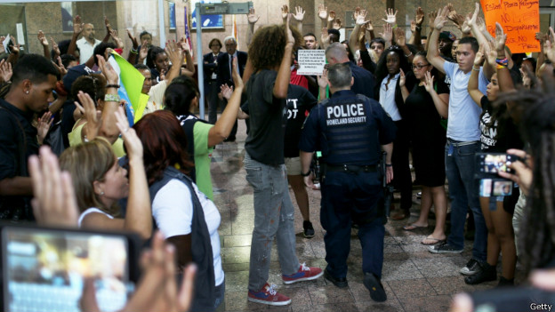 Acción de protesta en Miami